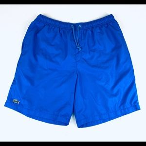 Lacoste Men's swim trunks beach shorts Sz XL lined